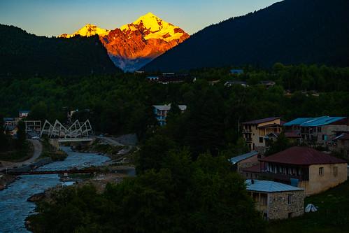 georgia mestia samegrelozemosvaneti georgia2019 sunset