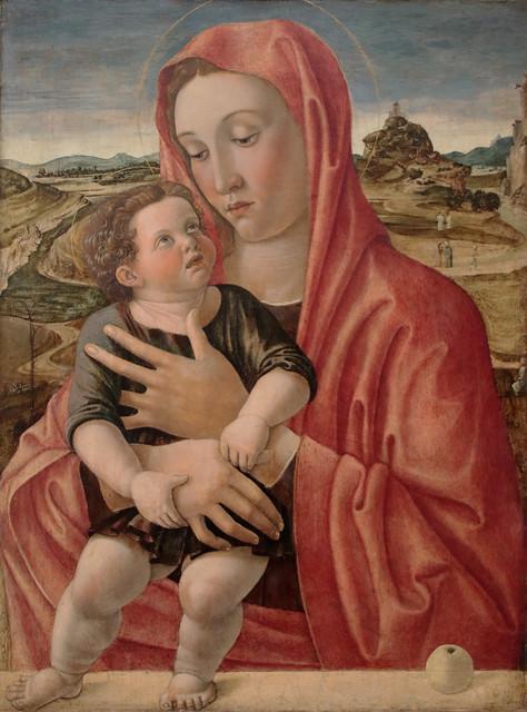 Giovanni Bellini (Venezia, 1433 circa – Venezia, 26 novembre 1516) -Nadonna col Bambino (circa 1460) -Tecnica: olio su tavola di pioppo - Dimensioni: 48,6x66,3 cm - Gemäldegalerie, Berlino