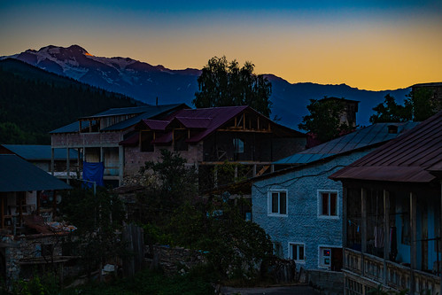 mestia samegrelozemosvaneti georgia2019 sunset georgia
