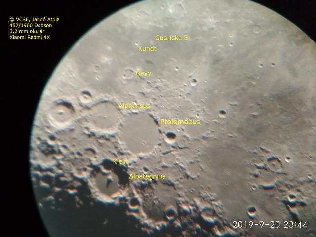 VCSE - Egyes krátereket bejelöltem a képen. A kép kattintásra megnő. - Jandó Attila képe