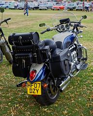 Triumph Rocket III motorcycle at Hatfield Heath Festival 2017 - rear