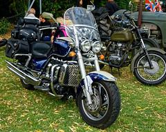 Triumph Rocket III motorcycle at Hatfield Heath Festival 2017 - front