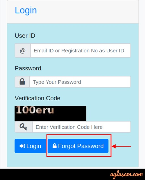 forget password reset button