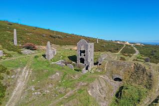 South Caradon copper mine ruins, Bodmin Moor, Cornwall