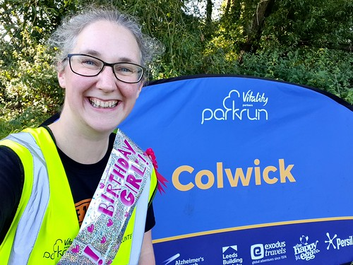 Birthday volunteering! The best kind of volunteering. parkrun #106, Colwick
