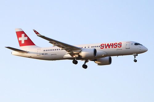 HB-JCC  -  Airbus A220-300  -  Swiss International  -  LHR/EGLL 19/9/19 | by Martin Stovey