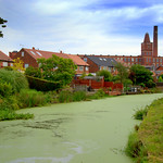 Green curve in the canal at Preston