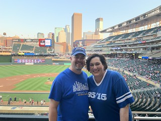 Picture of Carrie and I at Target Field