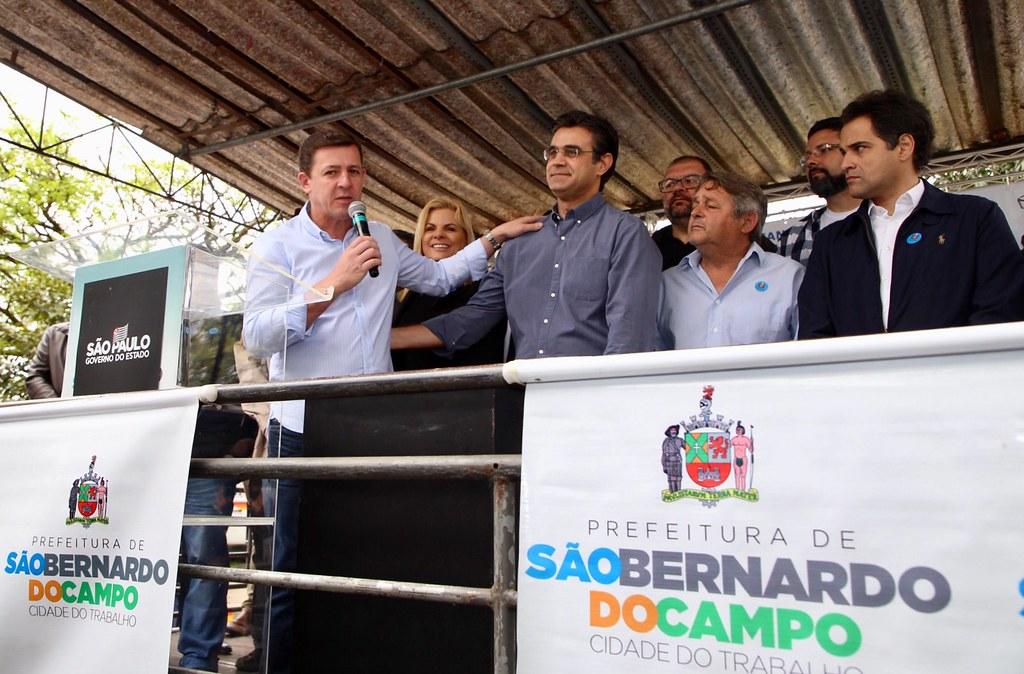 Início das obras de canalização do córrego Ribeirão dos Couros e recapeamento asfáltico em SBC