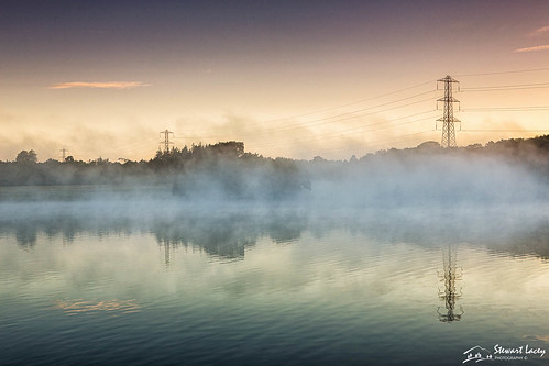 pylons colorefexpro4 dogmersfield sunrise nikfilters peaceful reflections mist hampshire tundrypond other clearsky dawn uk water