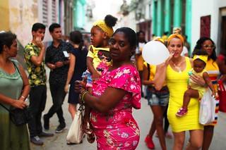 En la celebración de la Virgen de la Caridad del Cobre. Habana Vieja.