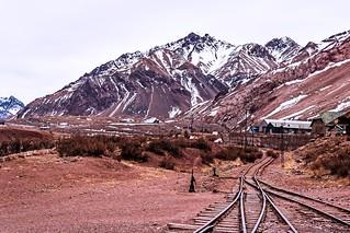 Viejas vias del Ferrocarril Trasandino