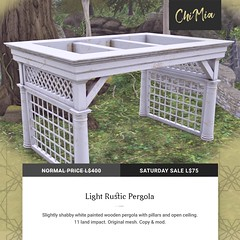 The Saturday Sale 21 September 2019: Light Rustic Pergola by ChiMia