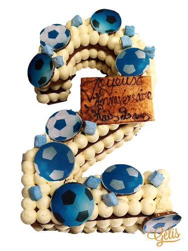 Number Cake 2 ballon