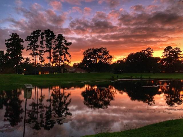 Backyard Sunset. Orange Park, Florida