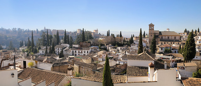 The beautiful Albaicín neighborhood in Granada