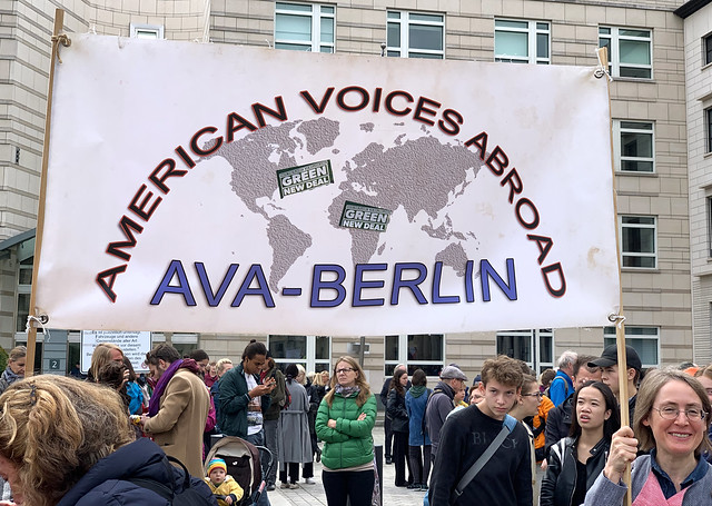 AVA at Global Climate Action September 20, 2019 in front of the US Embassy, Berlin
