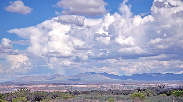 Clouds over the Dragoons, Cochise County, Arizona, September 9, 2019.