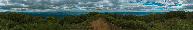 High Knob Fire Tower Lookout Panorama