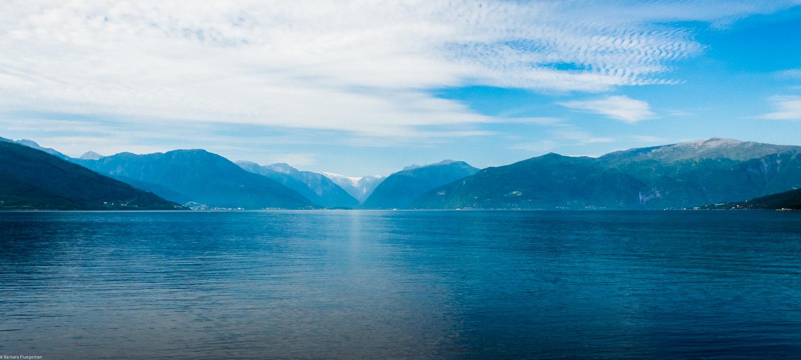 Blue on blue - Sognefjord near Vik