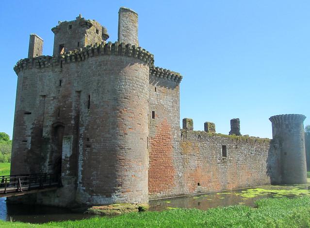 Caerlaverock Castle Side View