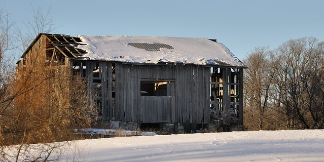 Abandoned derelict barn - Caledon, Ontario.
