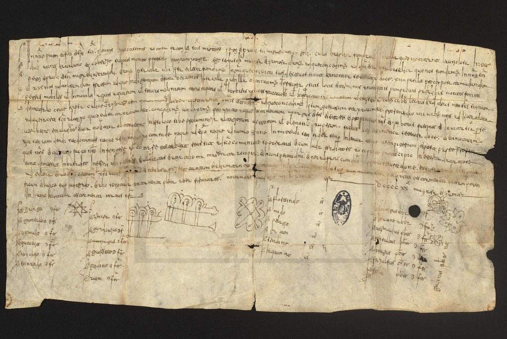 Imagem XV - Um fólio da Carta de fundação da Igreja de Lardosa