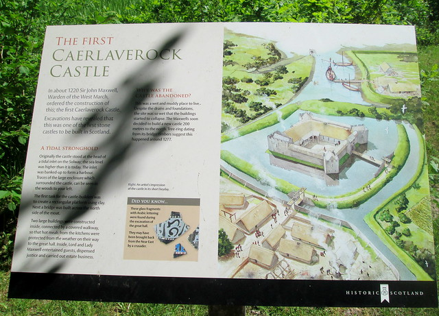 Old Caerlaverock Castle Information Board