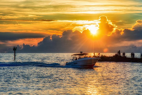 boats sunset seascape jetty gulfofmexico d810 clouds