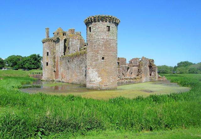 Caerlaverock Castle From Rear