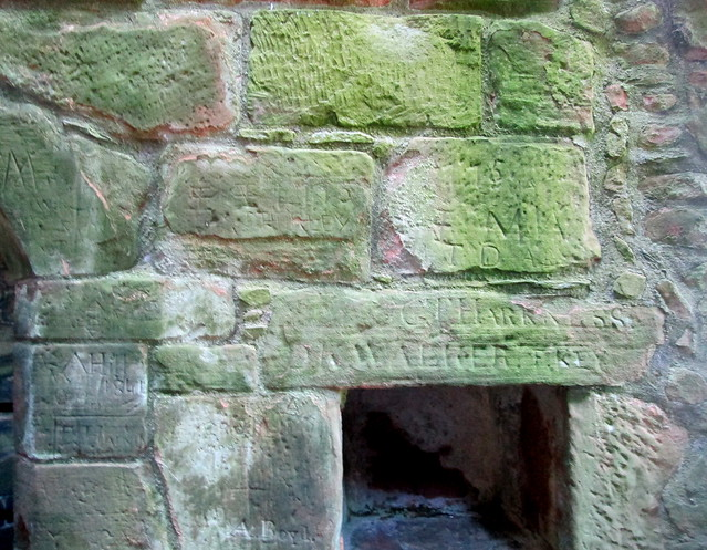Caerlaverock Castle, Carved Lintel and Stones