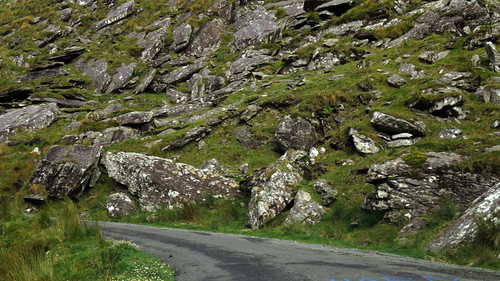 Drive through the green rocky Ballighbeama Gap to Killarney National Park, Ireland