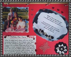 My First Scrapbook Page--God Gave Me A Son
