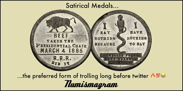 E-Sylum Numismagram ad24 Satirical