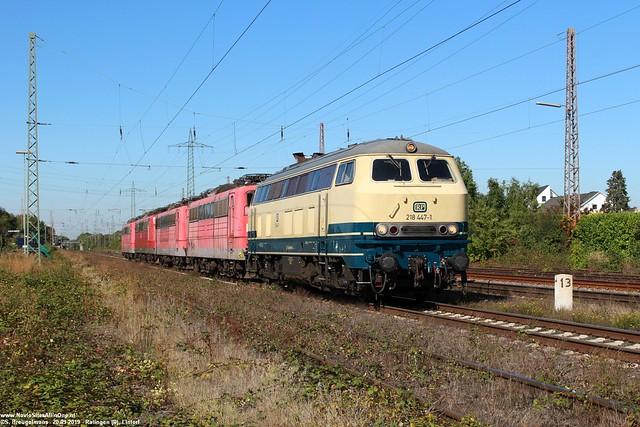 RailSystems RP 218 447 + afvoer BR151 - Lintorf (D) 20-09-2019.