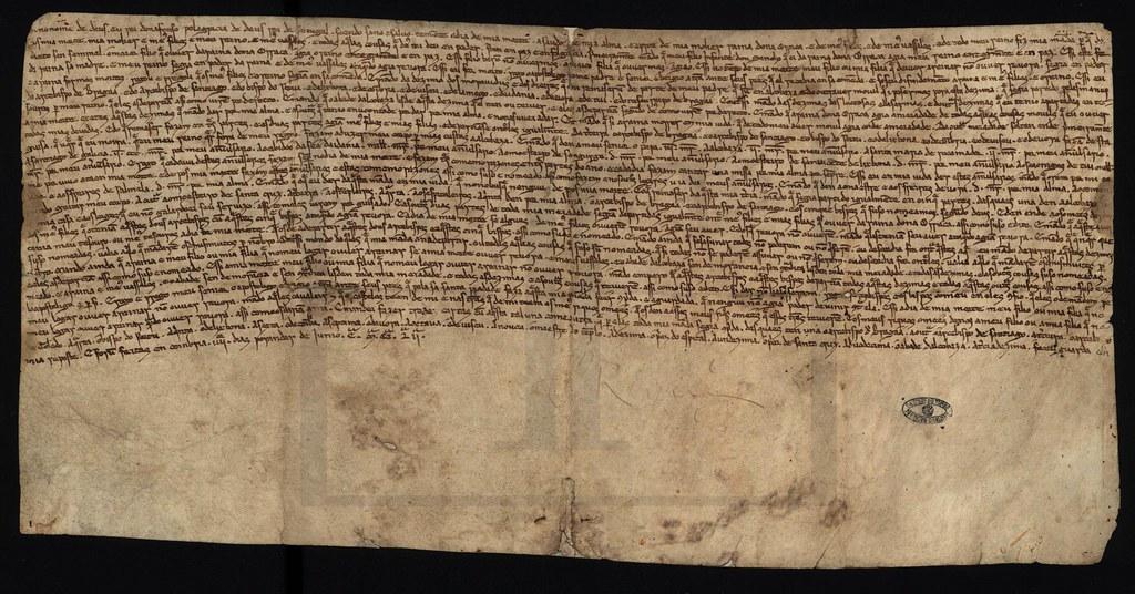 Imagem XX - Um fólio do testamento de D. Afonso II