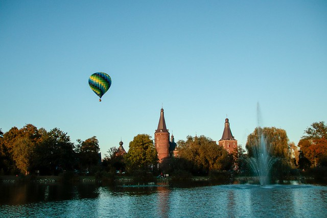 Ballon festival nabij kasteel Hoensbroek 2.