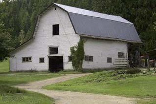 It's in the barn