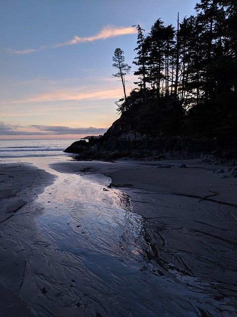 Sunset, Middle Beach, Tofino BC