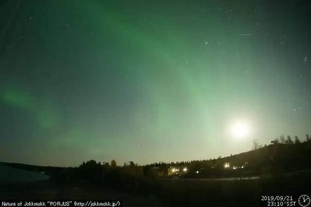Jokkmokk Cam, Sweden 21-09-2019 23:10 Aurora borealis