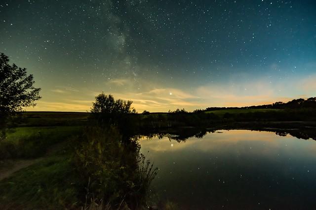 Nachthimmel über dem Eichholzmaar