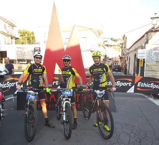 I tre atleti nella gara dell'Etna