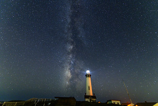 Milky Way behind Pigeon Point Lighthhouse