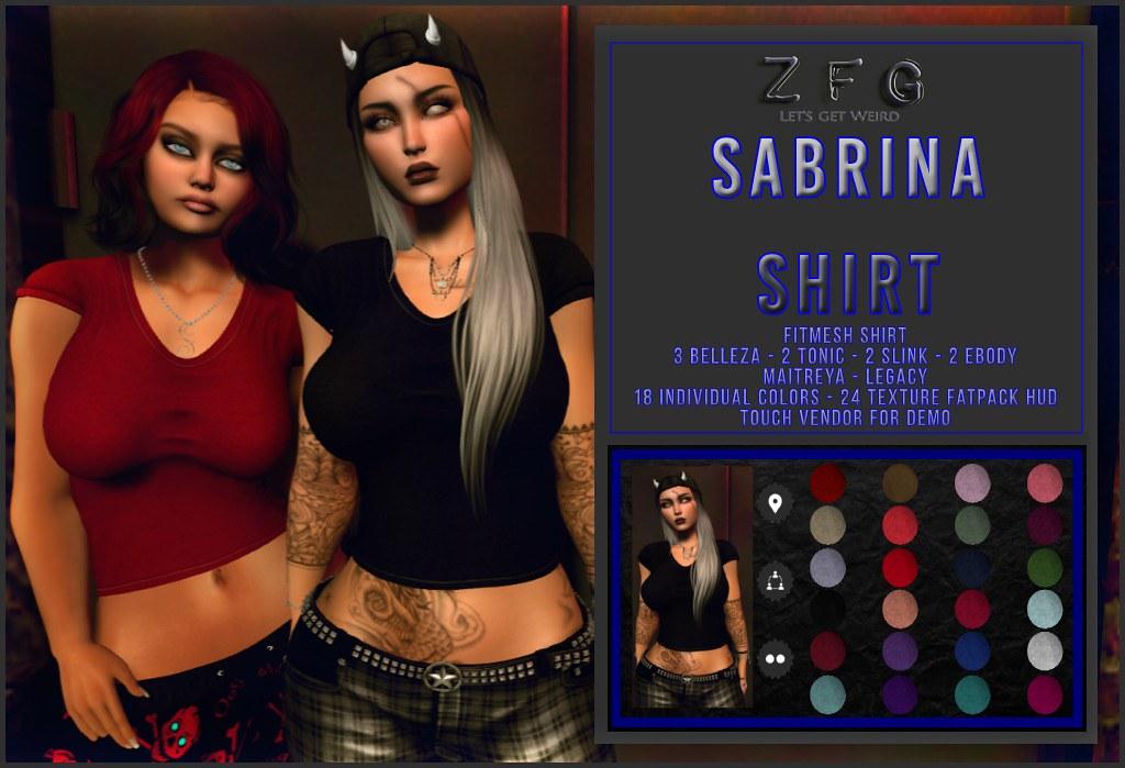 {zfg} sabrina shirt plain