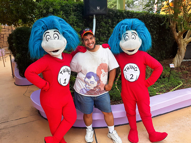 Me with Thing 1 & Thing 2 from The Cat in The Hat