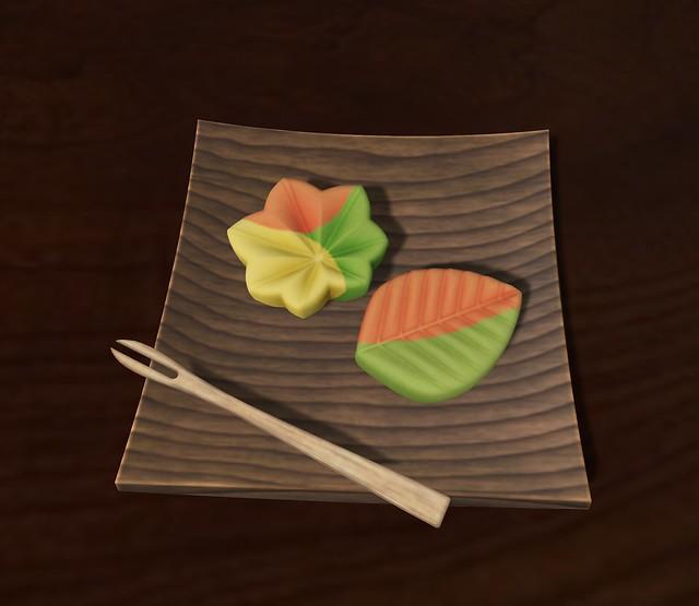 leaf wagashi