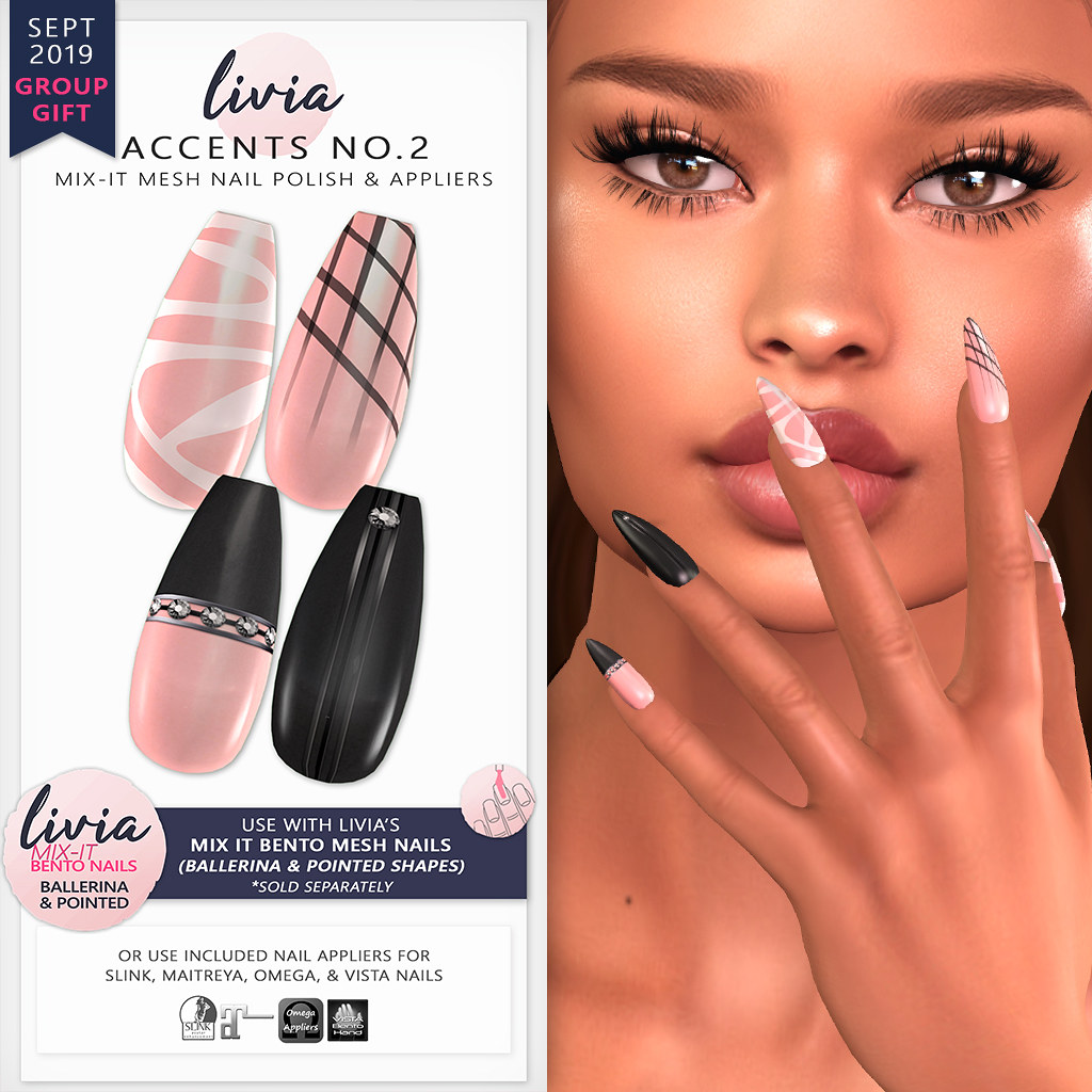 LIVIA // Accents No.2 // Mix-It Polish & Appliers (Sept 2019 Group Gift)