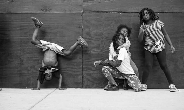 Kids Dancing on Market Street, Center City Philadelphia