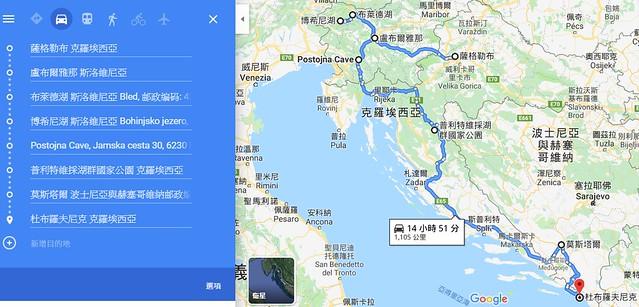 巴爾幹旅行地圖