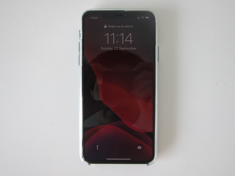Apple iPhone 11 Pro Max Clear Case - With iPhone 11 Pro Max - Front